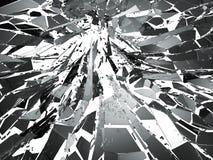Shattered glass over white background. 3d rendering 3d illustration Stock Photo