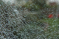 Shattered Glass Pane Royalty Free Stock Images