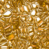 Shattered golden glass Royalty Free Stock Photo