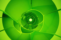 Shattered green tunnel. Abstract shattered green tunnel. 3D Rendering Royalty Free Stock Photos