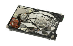 Shattered Hard Drive Royalty Free Stock Images