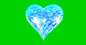 Shattered heart 3d illustration render green screen. Shattered heart on a green screen background 3d illustration render chromakey stock video footage