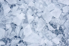 Shattered ice. Background with shattered ice on lake in shades of blue Royalty Free Stock Photography