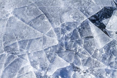Shattered ice. Closeup of Shattered Ice with center breaking point Stock Photography
