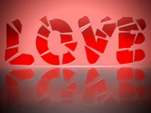 Shattered Love Stock Image