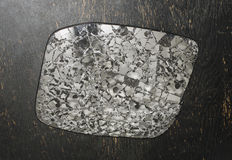 Shattered rear view mirror Stock Image
