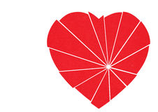 Shattered red heart to mend - isolated on white royalty free illustration
