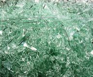 Shattered window Glass. Royalty Free Stock Photo