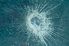 Shattered windscreen Royalty Free Stock Image