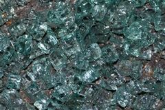 shattered-windscreen-glass-on-ground Royalty Free Stock Image