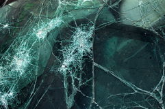 Shattered Windshield. A smashed car windshield following a traffic accident stock images