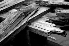 Shattered wood Royalty Free Stock Photo