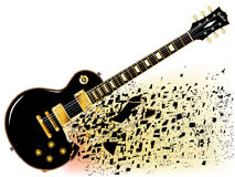 Shattering Blues Guitar Stock Image