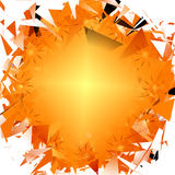 Shattering Sun. Shine  artwork design in yellow, orange, and triangle graphics Royalty Free Stock Photo