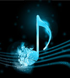 Shatterred musical note Royalty Free Stock Photo