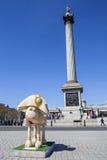 Shaun die Schafe am Trafalgar-Platz in London Stockbild