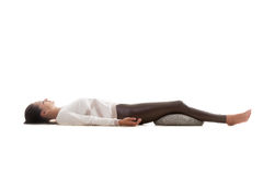 Shavasana de pose de yoga Photo libre de droits