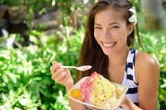 Shave ice - hawaiian shaved ice dessert royalty free stock image