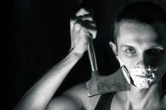 Shave man axe Royalty Free Stock Photo