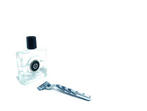 After shave and razor Royalty Free Stock Image