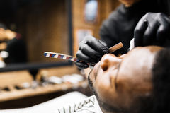 Shave with razor blade Stock Photography