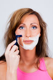 Shave woman Stock Photos