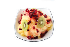Shaved fresh milk ice with fruit Royalty Free Stock Photo