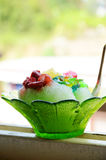Shaved ice. ALL SHAVE ICE IS NOT CREATED EQUAL Stock Photo