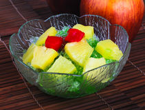 Shaved Ice dessert and Fresh fruits Royalty Free Stock Image