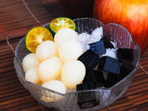Shaved Ice dessert and Fresh fruits Stock Image