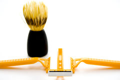 Shaver with shaving brush Stock Photography