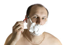 Shaving. Royalty Free Stock Photo
