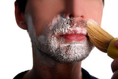 Shaving Royalty Free Stock Photo