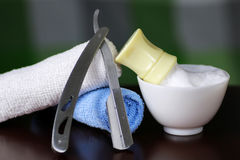 Shaving accessories danger royalty free stock image