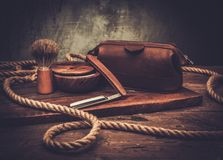 Shaving accessories Stock Photography
