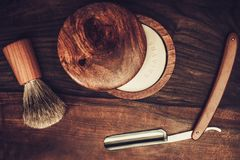 Shaving accessories Royalty Free Stock Photos