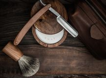 Shaving accessories Royalty Free Stock Images