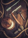 Shaving accessories Royalty Free Stock Photography
