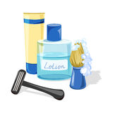Shaving accessories for men Stock Image