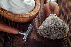 Shaving accessories Royalty Free Stock Image