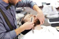 Shaving beard Stock Photos