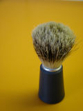Shaving brush. Close up a shaving brush Royalty Free Stock Image
