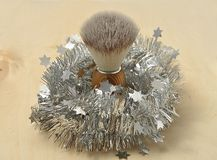 Shaving brush as christmas gift Royalty Free Stock Photography
