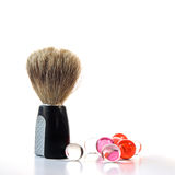 Shaving Brush & Bath Pearls Royalty Free Stock Image