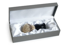 Shaving brush in box Royalty Free Stock Image