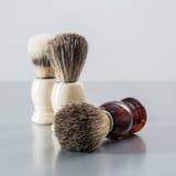 Shaving brush  on grey background. Stock Photography