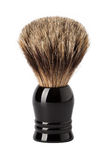 Shaving brush (isolated on white). Classic shaving brush with raccoon fur (isolated on white stock image