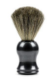 Shaving brush. On a white background stock image
