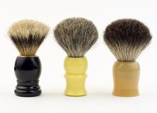 Shaving brushes Stock Images