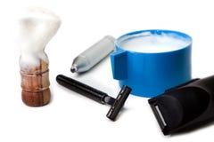 Shaving equipment Stock Photo